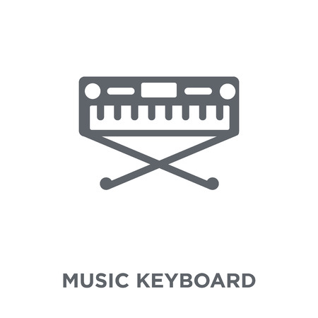 music Keyboard icon. music Keyboard design concept from Music collection. Simple element vector illustration on white background. Stock Illustratie