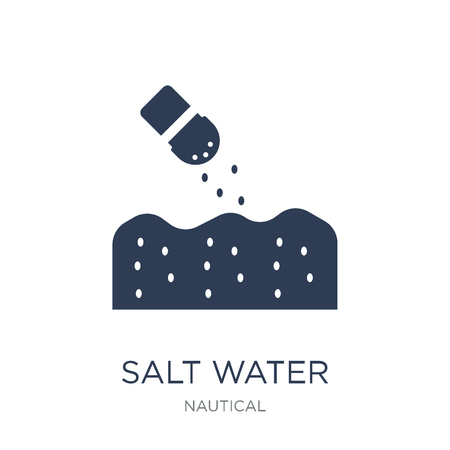 salt water icon. Trendy flat vector salt water icon on white background from Nautical collection, vector illustration can be use for web and mobile, eps10