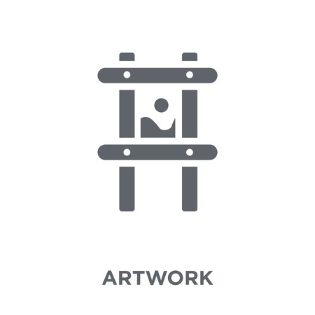 Artwork icon. Artwork design concept from Museum collection. Simple element vector illustration on white background.