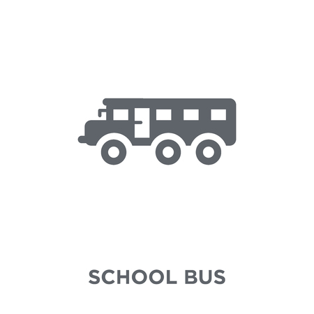 School bus icon. School bus design concept from  collection. Simple element vector illustration on white background.