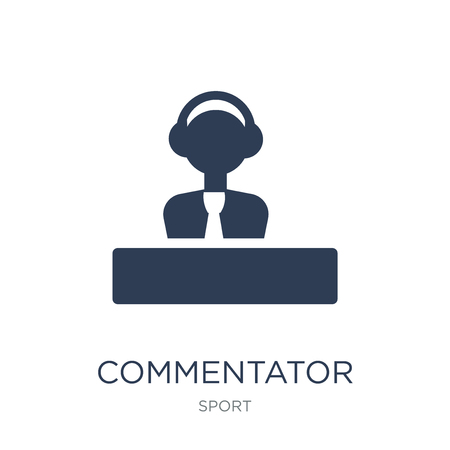 Commentator icon. Trendy flat vector Commentator icon on white background from sport collection, vector illustration can be use for web and mobile, eps10