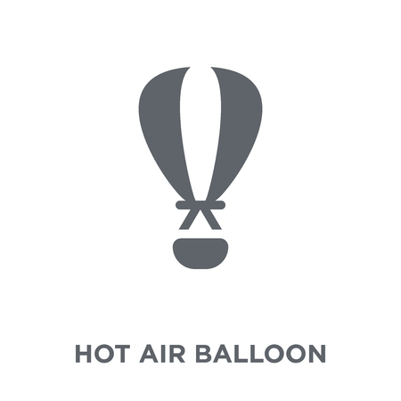 Hot air balloon icon. Hot air balloon design concept from collection. Simple element vector illustration on white background.