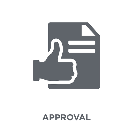 Approval icon. Approval design concept from  collection. Simple element vector illustration on white background.
