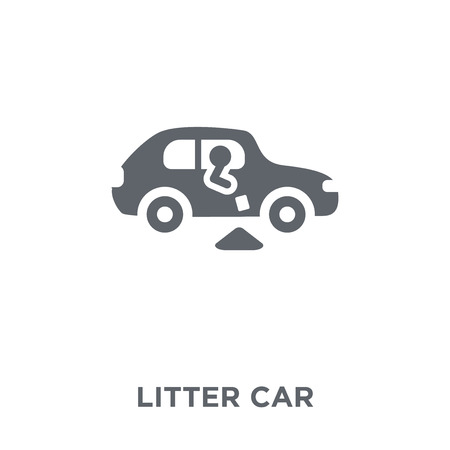 litter car icon. litter car design concept from Transportation collection. Simple element vector illustration on white background.