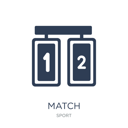 Match icon. Trendy flat vector Match icon on white background from sport collection, vector illustration can be use for web and mobile, eps10