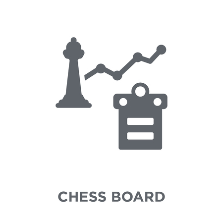 Chess board icon. Chess board design concept from  collection. Simple element vector illustration on white background. Ilustração
