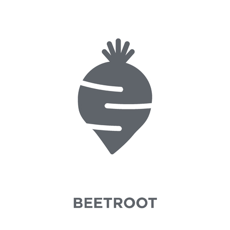 Beetroot icon. Beetroot design concept from Fruit and vegetables collection. Simple element vector illustration on white background. Illustration