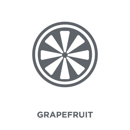 Grapefruit icon. Grapefruit design concept from Fruit and vegetables collection. Simple element vector illustration on white background.