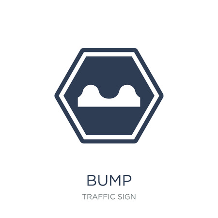 Bump sign icon. Trendy flat vector Bump sign icon on white background from traffic sign collection, vector illustration can be use for web and mobile, eps10