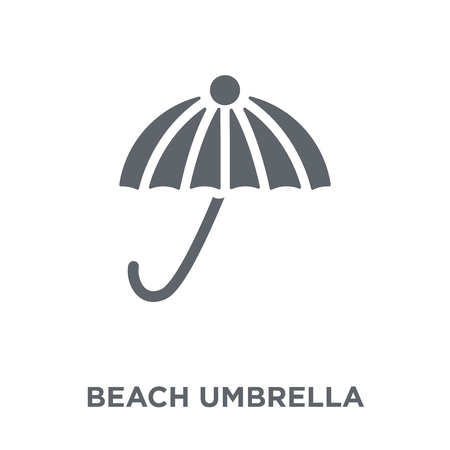 Beach umbrella icon. Beach umbrella design concept from  collection. Simple element vector illustration on white background.