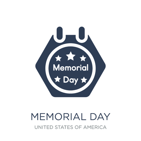 Memorial Day icon. Trendy flat vector Memorial Day icon on white background from United States of America collection, vector illustration can be use for web and mobile, eps10 Illustration