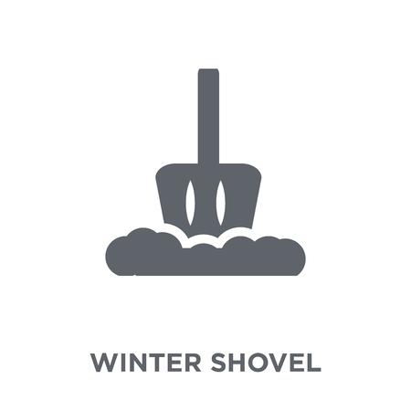 winter Shovel icon. winter Shovel design concept from Winter collection. Simple element vector illustration on white background. Illustration