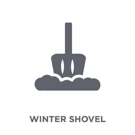 winter Shovel icon. winter Shovel design concept from Winter collection. Simple element vector illustration on white background. Çizim