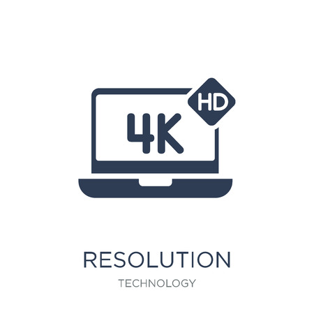 Resolution icon. Trendy flat vector Resolution icon on white background from Technology collection, vector illustration can be use for web and mobile, eps10