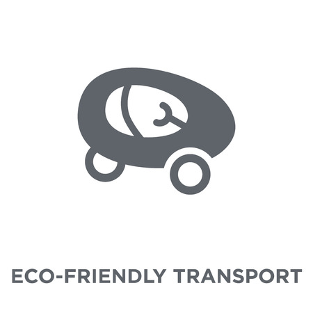 eco-friendly transport icon. eco-friendly transport design concept from Transportation collection. Simple element vector illustration on white background.