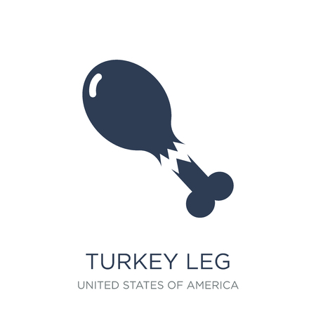 Turkey Leg icon. Trendy flat vector Turkey Leg icon on white background from United States of America collection, vector illustration can be use for web and mobile, eps10