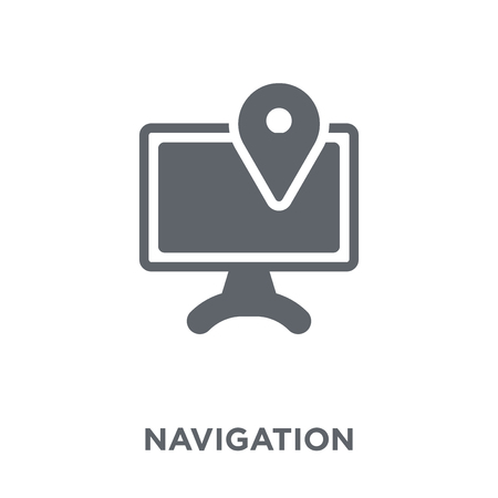 Navigation icon. Navigation design concept from  collection. Simple element vector illustration on white background. Archivio Fotografico - 112415570
