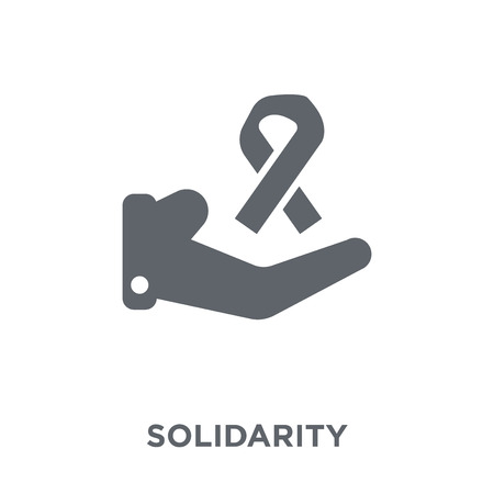 Solidarity icon. Solidarity design concept from  collection. Simple element vector illustration on white background. Illustration