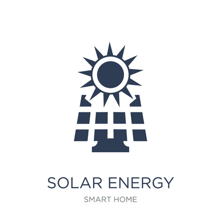 Solar energy icon. Trendy flat vector Solar energy icon on white background from smart home collection, vector illustration can be use for web and mobile, eps10