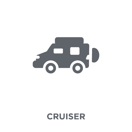Cruiser icon. Cruiser design concept from Transportation collection. Simple element vector illustration on white background.