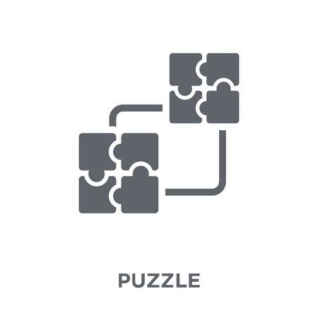 Puzzle icon. Puzzle design concept from  collection. Simple element vector illustration on white background. Banque d'images - 112415611