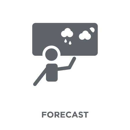 Forecast icon. Forecast design concept from  collection. Simple element vector illustration on white background. Ilustração