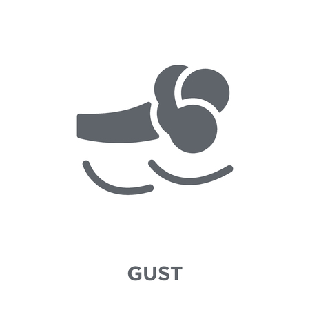 Gust icon. Gust design concept from Weather collection. Simple element vector illustration on white background.