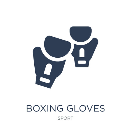 Boxing gloves icon. Trendy flat vector Boxing gloves icon on white background from sport collection, vector illustration can be use for web and mobile, eps10 Banque d'images - 112415657