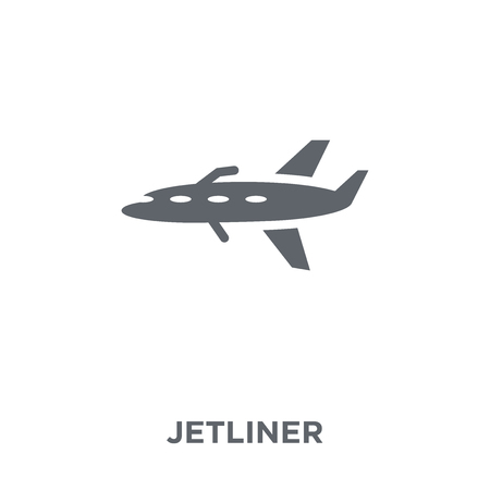 jetliner icon. jetliner design concept from Transportation collection. Simple element vector illustration on white background.  イラスト・ベクター素材