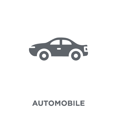 Automobile icon. Automobile design concept from Transportation collection. Simple element vector illustration on white background.