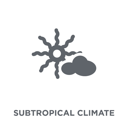 subtropical climate icon. subtropical climate design concept from Weather collection. Simple element vector illustration on white background.