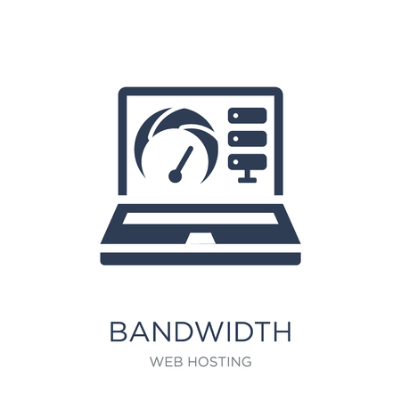Bandwidth icon. Trendy flat vector Bandwidth icon on white background from web hosting collection, vector illustration can be use for web and mobile, eps10  イラスト・ベクター素材