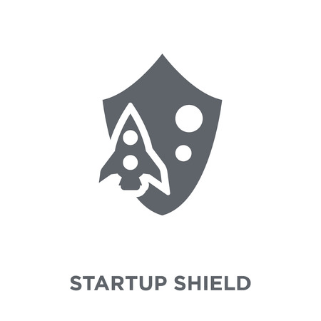 startup Shield icon. startup Shield design concept from Startup collection. Simple element vector illustration on white background. Stock Vector - 112373468