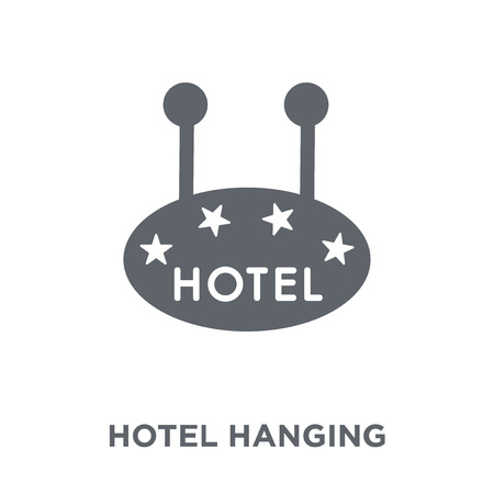 Hotel hanging signal of four stars icon. Hotel hanging signal of four stars design concept from Summer collection. Simple element vector illustration on white background. Illustration