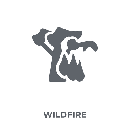 wildfire icon. wildfire design concept from Weather collection. Simple element vector illustration on white background.