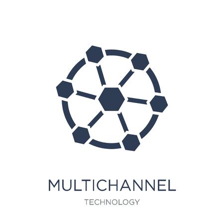 Icône de marketing multicanal. Icône de Marketing multicanal vecteur plat sur fond blanc de la collection Technology, illustration vectorielle peut être utilisé pour le web et mobile, eps10