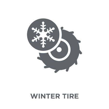 Winter tire icon. Winter tire design concept from Winter collection. Simple element vector illustration on white background. Stockfoto - 112415666