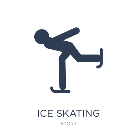 Ice skating icon. Trendy flat vector Ice skating icon on white background from sport collection, vector illustration can be use for web and mobile, eps10