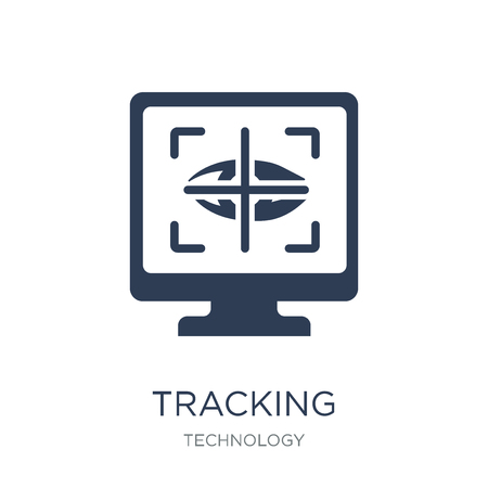 Tracking icon. Trendy flat vector Tracking icon on white background from Technology collection, vector illustration can be use for web and mobile, eps10