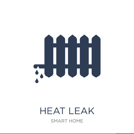heat leak icon. Trendy flat vector heat leak icon on white background from smart home collection, vector illustration can be use for web and mobile, eps10