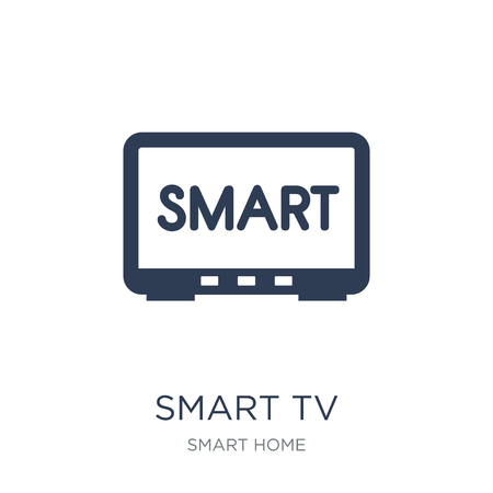 Smart tv icon. Trendy flat vector Smart tv icon on white background from smart home collection, vector illustration can be use for web and mobile, eps10 Vektoros illusztráció