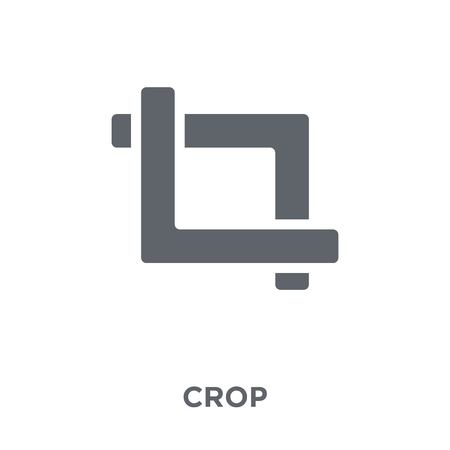 Crop icon. Crop design concept from  collection. Simple element vector illustration on white background.