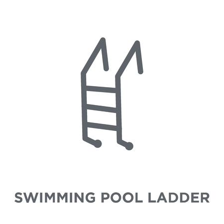 swimming pool ladder icon. swimming pool ladder design concept from Summer collection. Simple element vector illustration on white background.