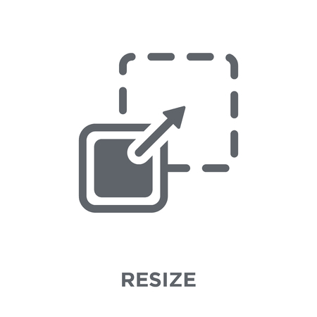 Resize icon. Resize design concept from  collection. Simple element vector illustration on white background.