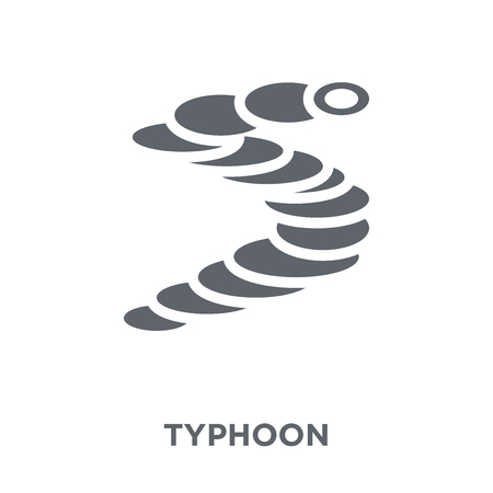 typhoon icon. typhoon design concept from Weather collection. Simple element vector illustration on white background.