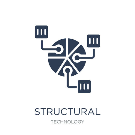 Structural Elements icon. Trendy flat vector Structural Elements icon on white background from Technology collection, vector illustration can be use for web and mobile, eps10 Ilustração