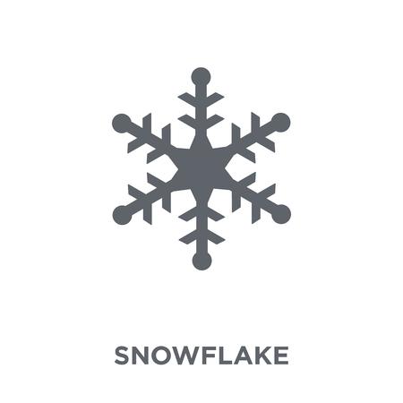 Schneeflocke-Symbol. Schneeflocke-Design-Konzept aus der Sammlung. Einfache Elementvektorillustration auf weißem Hintergrund.
