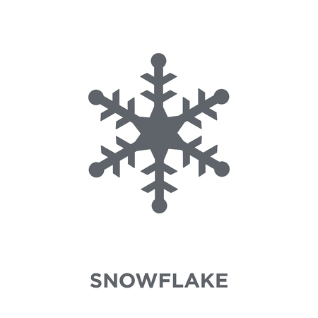 Snowflake icon. Snowflake design concept from  collection. Simple element vector illustration on white background. Illustration