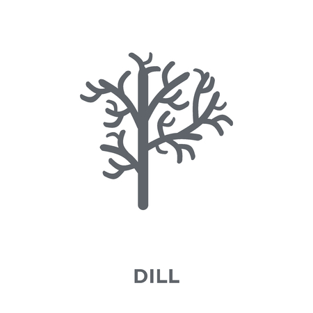 Dill icon. Dill design concept from Fruit and vegetables collection. Simple element vector illustration on white background. Illustration
