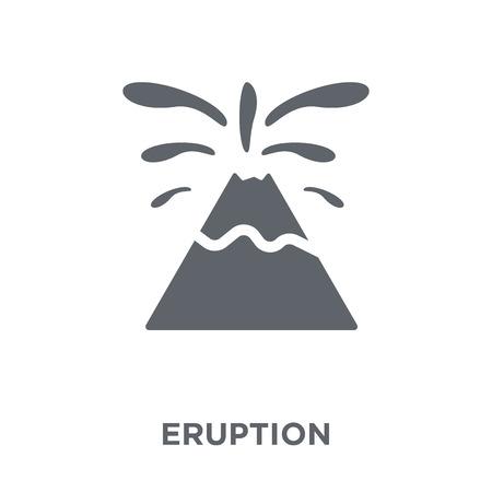 Icono de erupción. Concepto de diseño de erupción de colección Weather. Ilustración de vector de elemento simple sobre fondo blanco.